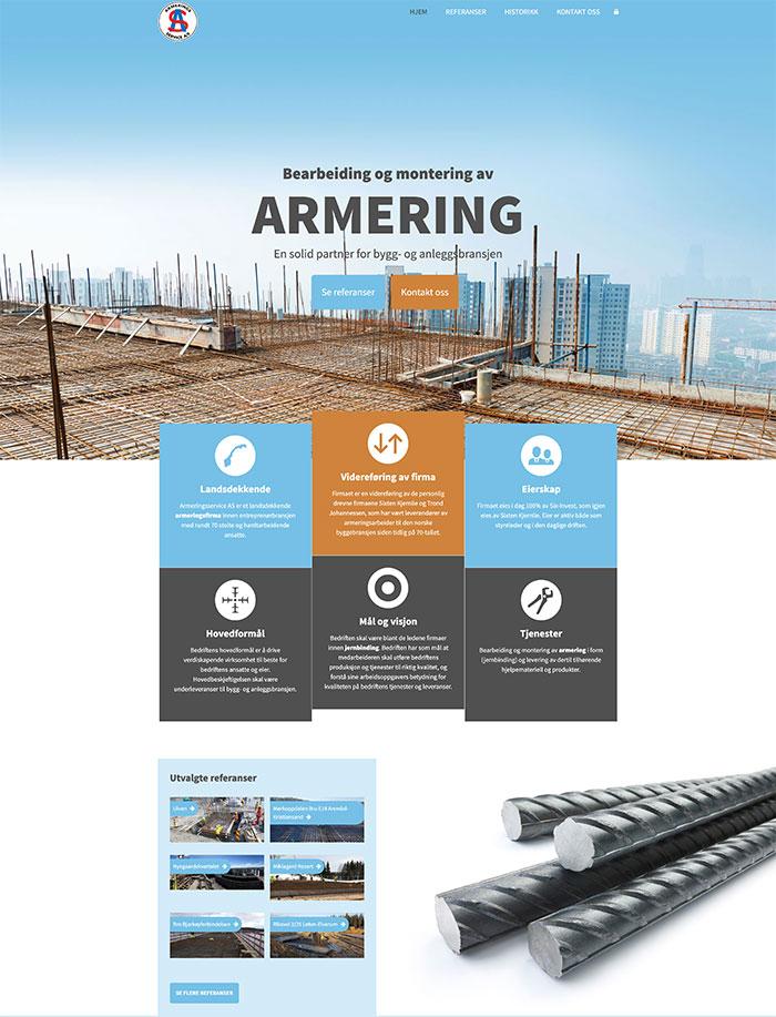 Hjemmeside for Armeringsservice