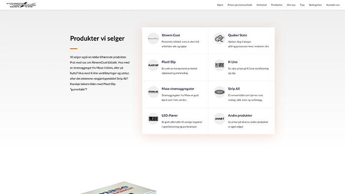 Hjemmeside 2 for Sarpsborg Motorverksted