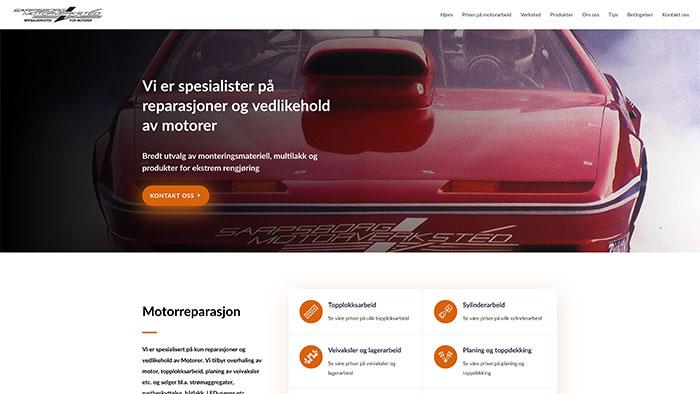 Hjemmeside for Sarpsborg Motorverksted