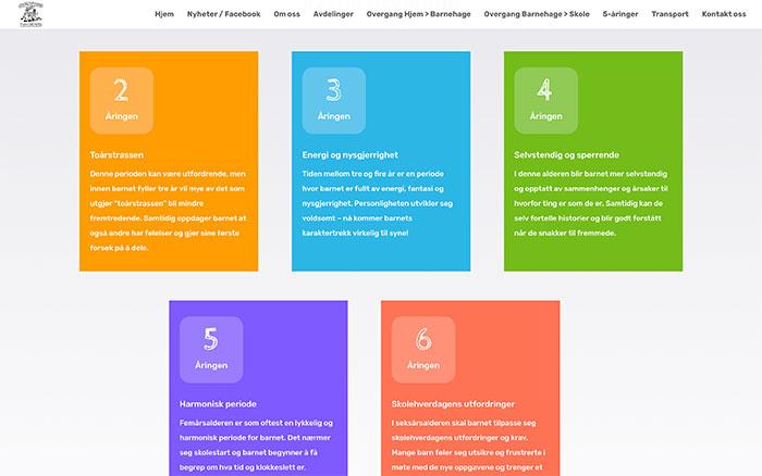 Webside for Trollklubben Barnehage
