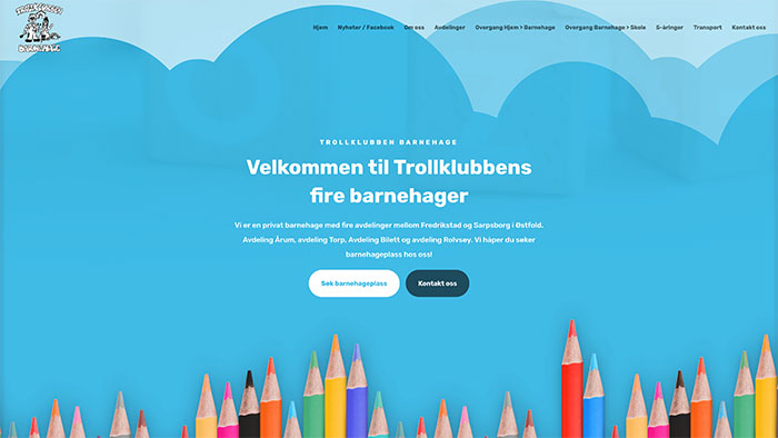Hjemmeside for Trollklubben Barnehage