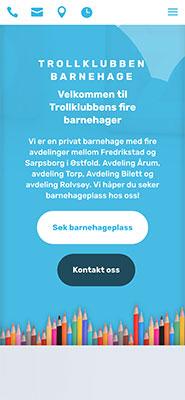 Responsive hjemmeside Trollklubben Barnehage